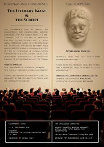 The Literary Image and the Screen - An International Conference (University of Genoa, 5-6 September 3019)